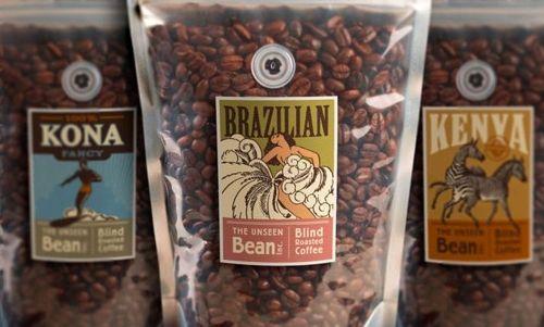 Винтажная упаковка бразильского кофе от The Tenfold Collective