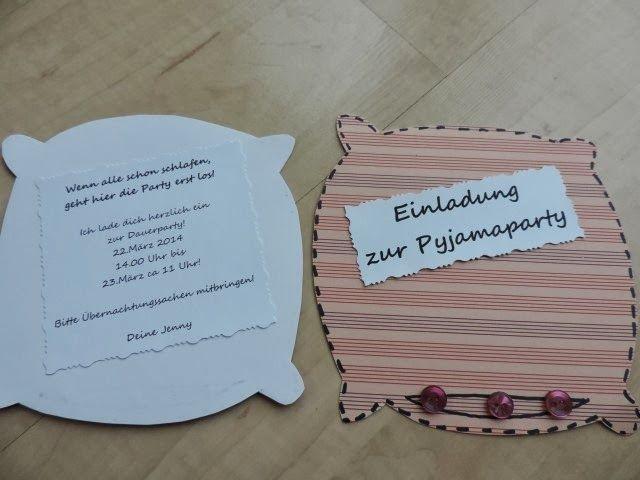 die besten 25+ einladung pyjamaparty ideen auf pinterest, Einladungsentwurf