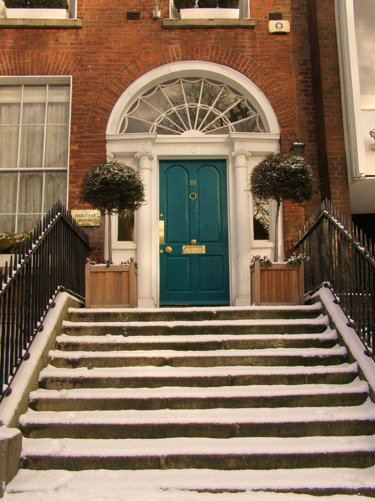 Snow in Dublin - oh so pretty - Georgian doors/ Will it snow this Christmas?