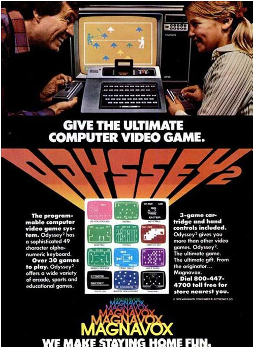 Magnavox Odyssey 2, 1978 We also had the Odyssey which was a stand alone unit for tennis and a couple of other sport theme .