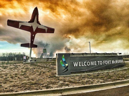 The view from the Fort McMurray airport on May 2, 2016.