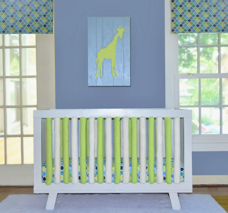 Fun and funky lime green adds zest and coolness to any modern nursery. The reversible features allow you to create all one color or have some fun and mix and match!