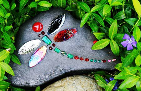 how to make dragonfly rocks