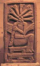 Stela from Aparicio, Vera Cruz. This carving is now in the Museum of Anthropology in Jalapa, Vera Cruz.