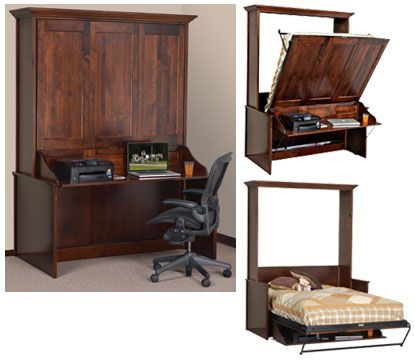 a desk that is a bed limited space use this unit - Murphy Bed With Desk