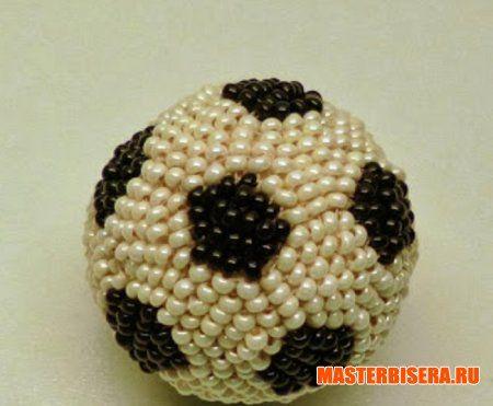 футбольный мяч из бисера