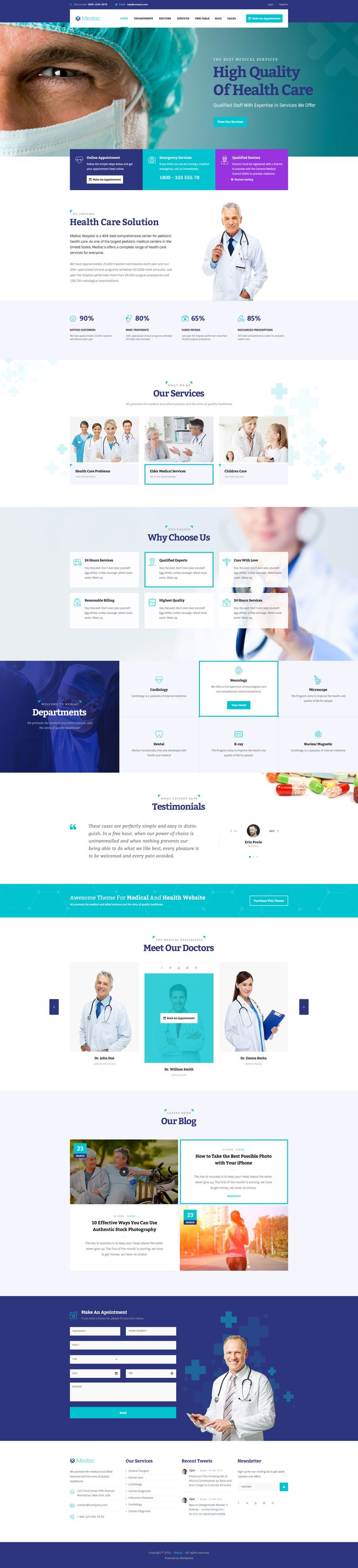 Mediac - Healthy Service WordPress Theme #megamenu #woocommerce • Download ➝ https://themeforest.net/item/mediac-healthy-service-wordpress-theme/18189009?ref=pxcr