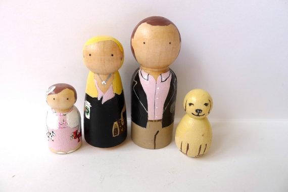 Peg Doll Custom Family by abbyjac on Etsy