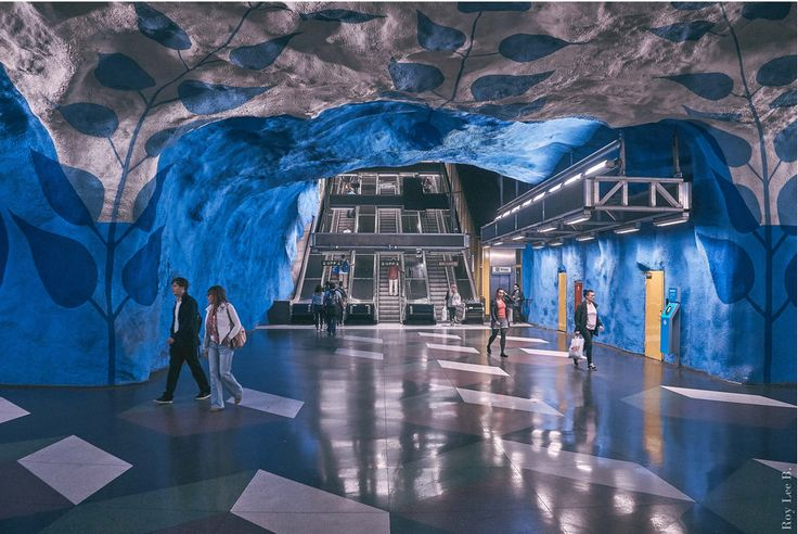 Stockholm's subway is definitely worth of a ride – it's a descent art-gallery!