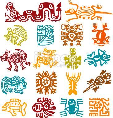 Set - mexican symbols Royalty Free Stock Vector Art Illustration