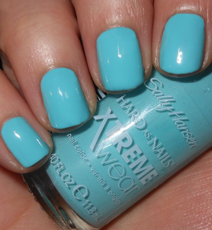 Sally Hansen Big Teal (Imperfectly Painted)