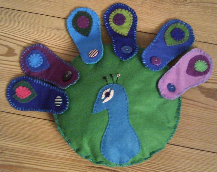 Button practice peacock