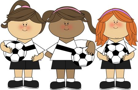 cute clip art ~ Girl Soccer Players