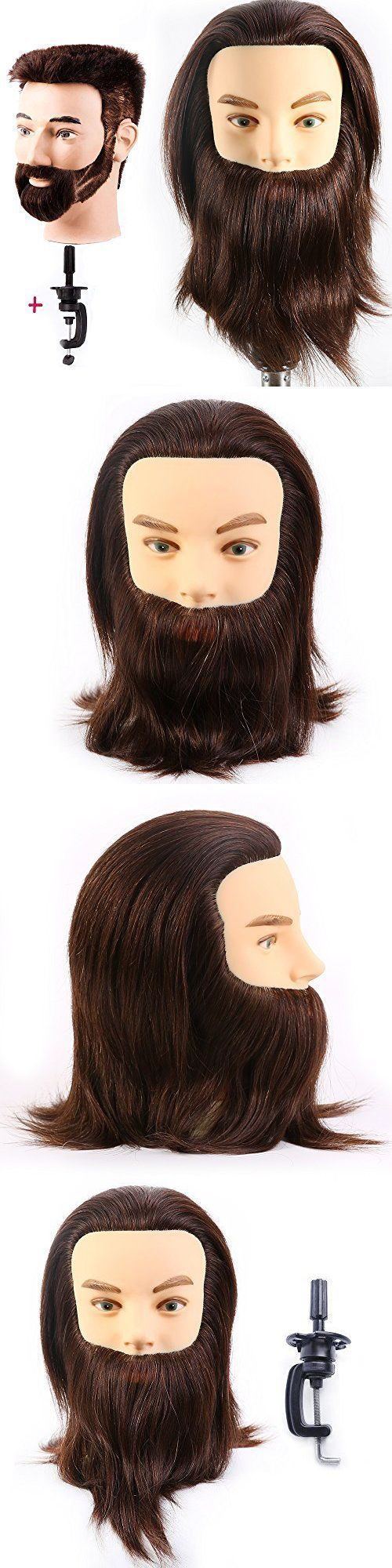 Hair and Makeup Mannequins: Male Mannequin Head 100% Human Hair Hairdresser Training Beard Barber Manikin -> BUY IT NOW ONLY: $37.19 on eBay!