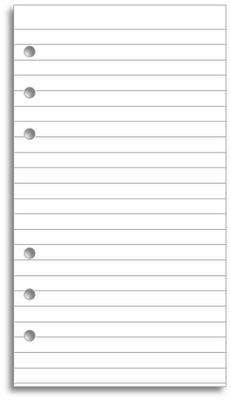 Download and print lined paper for your Filofax
