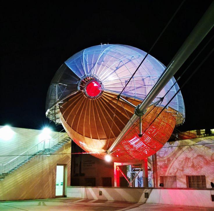 Star Wars in DOX Center of contemporary art in Prague, Czech - this is the zeppelin called Gulliver by architects HAMR - Hut architektury Martin Rajnis ( Martin Rajnis, David Kubik, Leos Valka, Zbynek Srutek)
