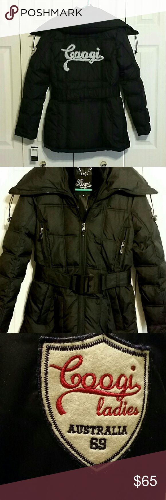 """NWT Black Coogi Winter Coat Brand new never worn,  perfect condition. Really nice coat for the colder climates. Size medium.  Coat does have a hood. Im 5'1"""" & this coat comes to mid thigh on me. I luv that about this coat. Will even keep ur behind warm. Really is a great coat. No trades. I will be flexible on price within reason. Coogi Jackets & Coats"""