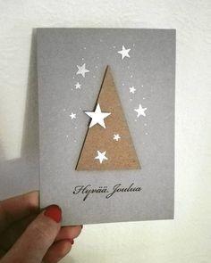 """38 tykkäystä, 3 kommenttia - Merja Jormalainen (@merjajormalainen) Instagramissa: """"Joulukortit 2016 #joulukortti #christmascard #itsetehty #handmade #stars"""""""