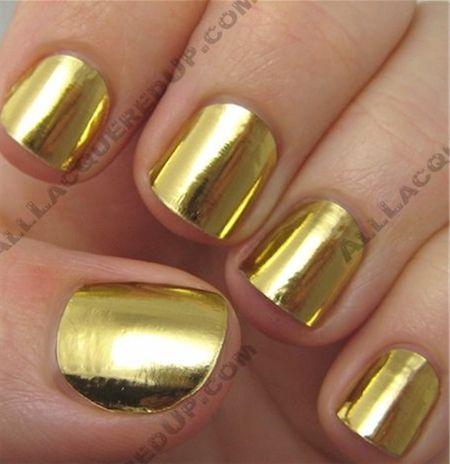 Gold Chrome Nail Polish Gold Chrome Nail Polish Image