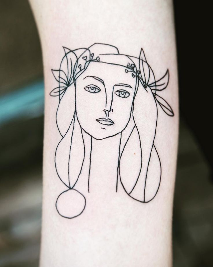 Picasso tattoo by artist anna adams circlesandferns for Picasso tattoo artist