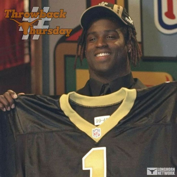 """April 17 1999. With the 5th pick of the 1999 NFL DRAFT, the  NEW ORLEANS SAINTS pick RICKY WILLIAMS RUNNING BACK THE UNIVERSITY OF TEXAS !! #TBT """"TEXAS LEGEND"""""""