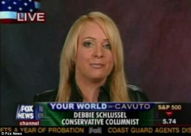 In an interview with Tulsa, Oklahoma-based radio host Pat Campbell, she said: 'This kind of stuff is all over the place at Fox News and anything that has to do with Sean Hannity.' She is seen during one of her appearances on Fox News