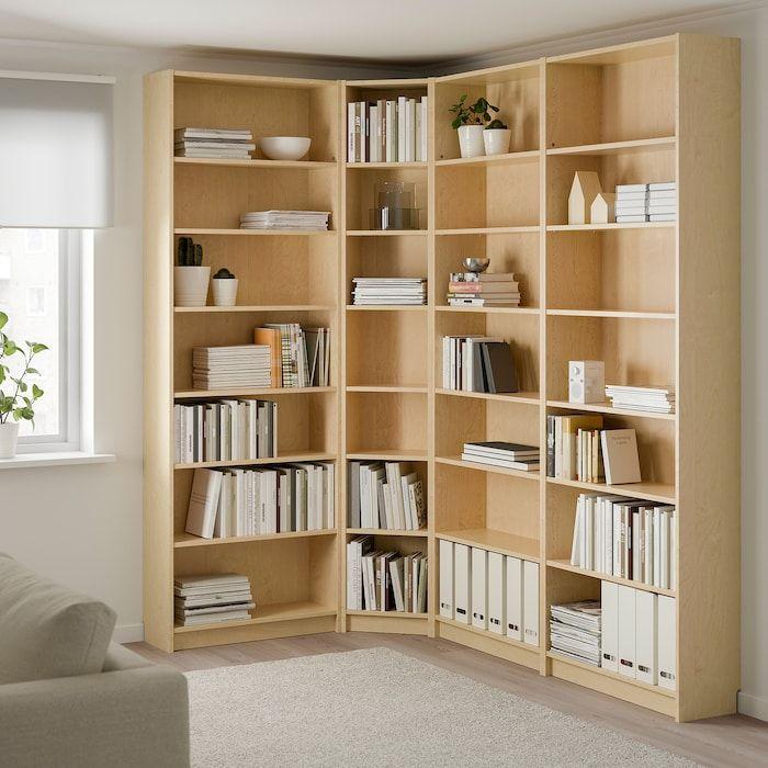 Billy Bookcase Birch Veneer 84 5 8 53 1 8x11x93 1 4 Ikea In 2020 Billy Bookcase Bookshelves Diy Ikea Bookshelves