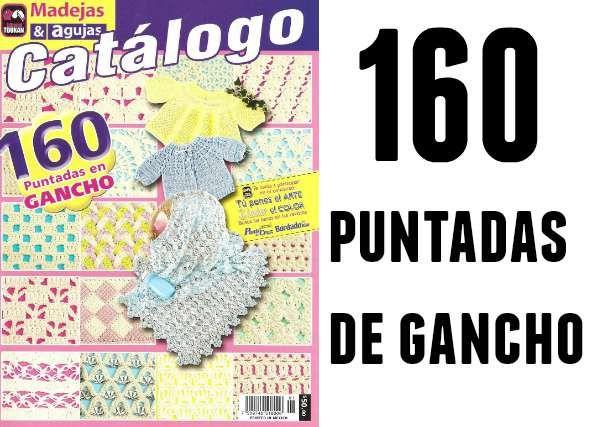 Patrones Crochet: 160 puntadas de gancho revista