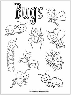 free printable bug coloring pages - photo#11