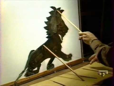 Shadow Puppet Theatre by Richard Bradshaw (Australia) - Sleeping Lion, via YouTube.