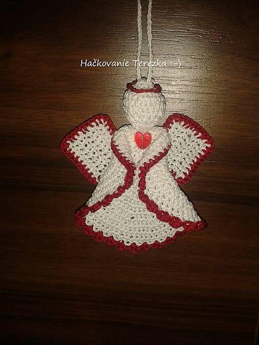 hackovanie-Terezka / anjelik bielo-cerveny