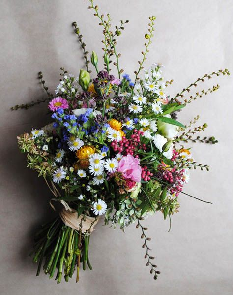 colourful wildflower bouquet. http://www.bloomingbrides.com.au/flowers.html