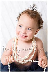 The beautiful Amalie lights up a room #baby #babygirl @tutusandtiaras #tutus #tiara #pearls #butterflies #flowers