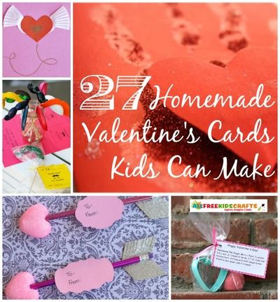 27 Homemade Valentine Cards Kids Can Make-Make homemade Valentine's cards for friends, parents, grandparents, and siblings. Don't just make any old card, though. Below, find 27 Homemade Valentine's Cards Kids Can Make that are precious and original.