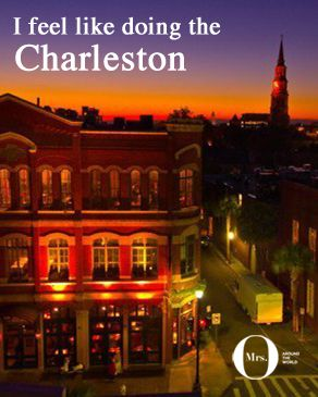 When one of Mr. O's best friends announced he was getting married, we discovered we were headed to the lovely city of Charleston, South Carolina! What's so special about this small city? It's postcard pretty, the people are lovely, and best of all, British accents were few and far between.