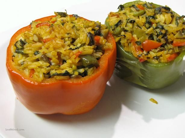 Stuffed Peppers With Thai Basil Rice