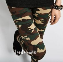 Details about Womens Sexy Army Green Camouflage Printed Elastic Slim Pants Leggings Trousers #(China (Mainland))