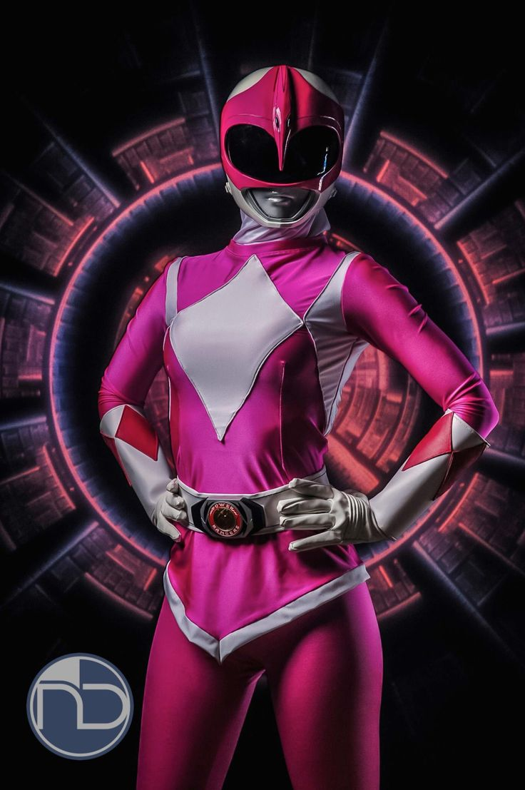 """Pink Ranger from """"Mighty Morphin Power Rangers"""" by YuffieBunny in a magic of photo by ND Pro Media Inc. And Pink Ranger helmet was maded by Legacy Concepts. Guess what? I LUV this!!"""