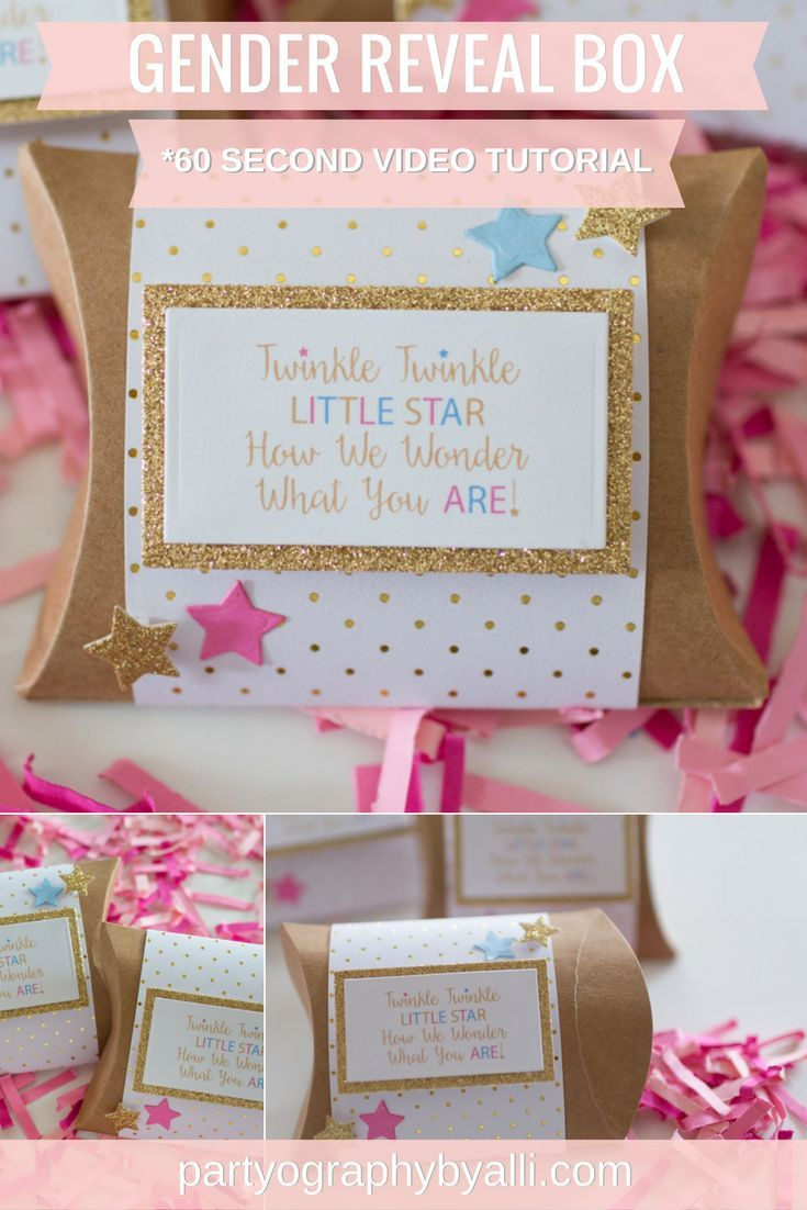 Twinkle twinkle little star how we wonder what you are! DIY Gender Reveal Box, easy and affordable gender reveal ideas
