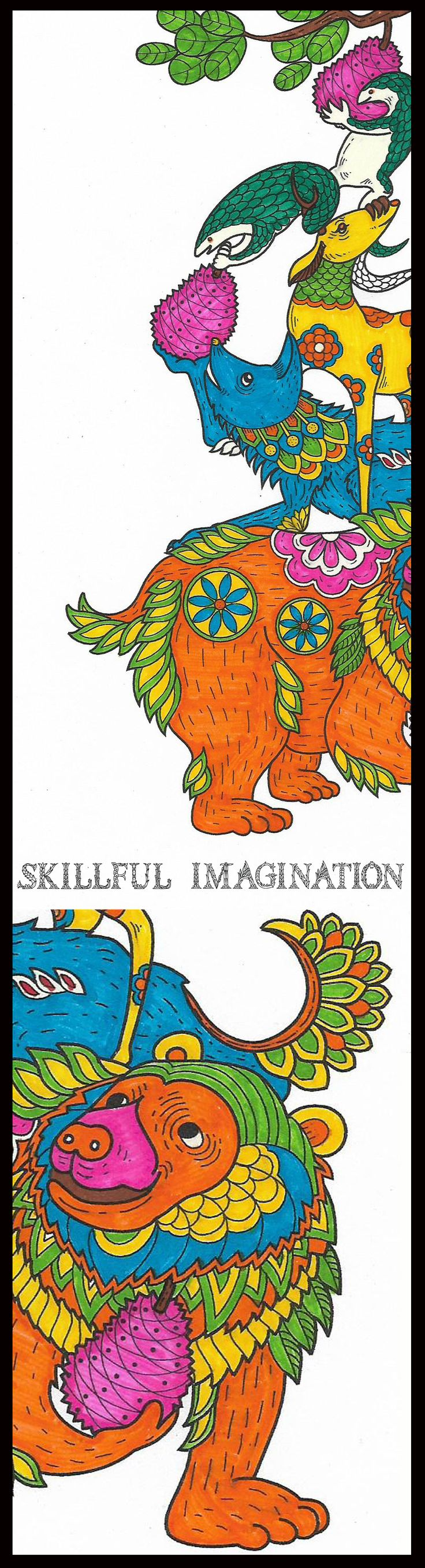34 best Skillful Imagination: Adult Coloring Book + notebook ...