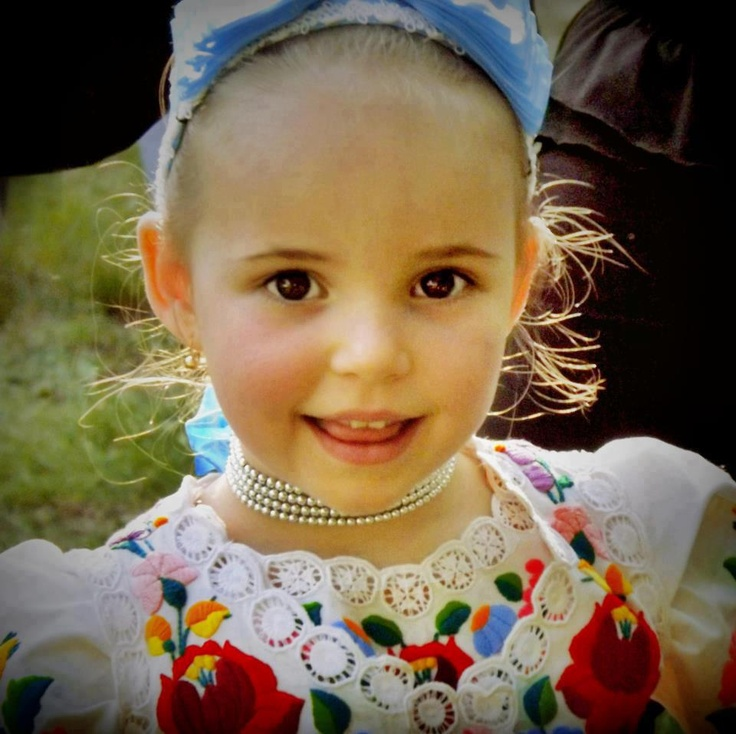 Girl in Hungarian folk costume (from Kalocsa)