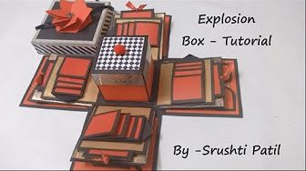 Explosion box - Tutorial | Theme - Valentine/ Black and red | by Srushti Patil - YouTube
