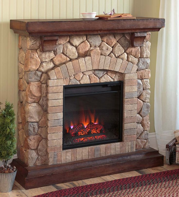 Superieur Stacked Stone Electric Infrared Quartz Fireplace Heater | Electric  Fireplaces