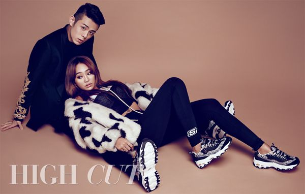 Sistar Hyorin and Beenzino in High Cut Vol. 142 Look 3