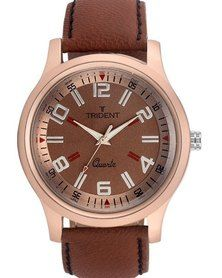 Trident Marrakesh watch - looking for a piece with the on-trend rose-gold tone? You've found one! Find out more at http://mytrident.co.za/products/marrakesh-mens and then get it now at http://www.zando.co.za/Trident-Marrakesh-Mens-Analogue-Watch-Brown-Leather-123438.html