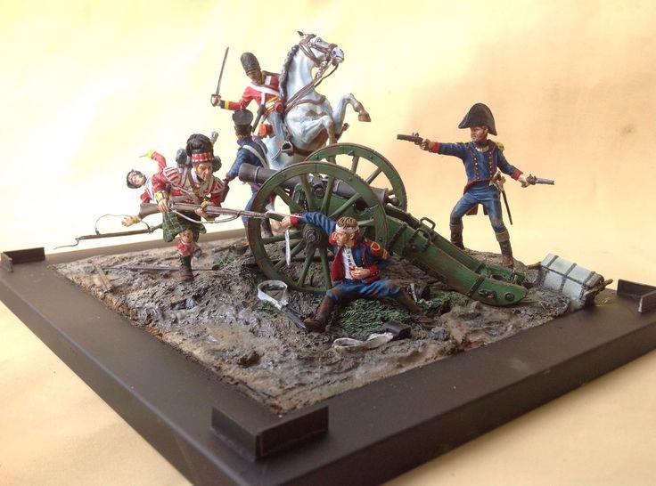 54 mm scale diorama battle of Waterloo 1815, by ademodelart