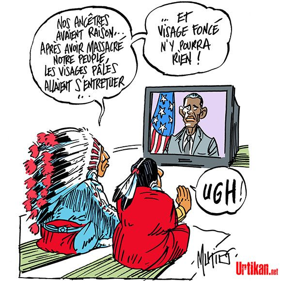 Etats-Unis : Barack Obama en larmes en évoquant les enfants tués par armes à feu - Dessin du jour - Urtikan.net