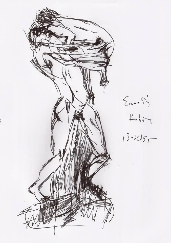 """The Abduction"" (Study/ after Rodin), by Yorgos ΖΗΤΩ (2015)"