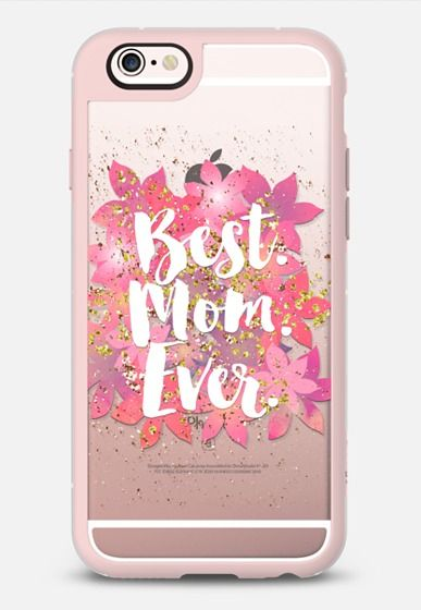 Best Mom Ever iPhone 6s case in Pink Gray and Clear by @lilith76 | @casetify