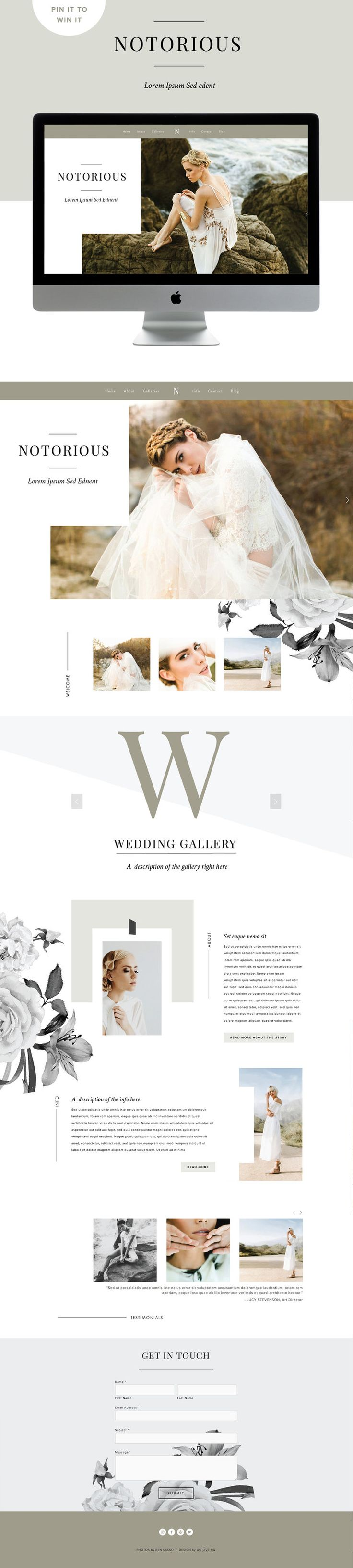 custom squarespace template inspiration - this is soooo gorgeous and I need this in my life!